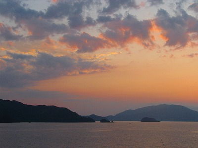 若狭湾の夕焼け