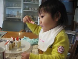 ひなとケーキ
