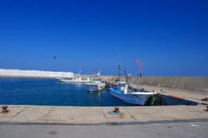 竜飛の漁港