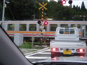 列車が通る