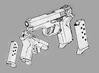 DARKER THAN BLACK -黒の契約者- 設定資料 未咲の拳銃