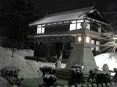 125雪灯篭