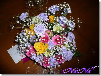 プレゼントのお花