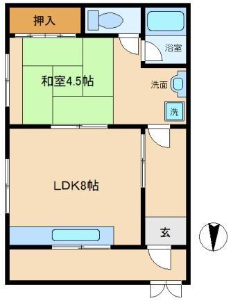 丸昌ハイツ 図面101号室