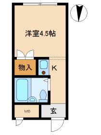 丸昌ハイツ 図面1ROOM