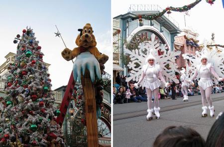 pluto&snow lady parade