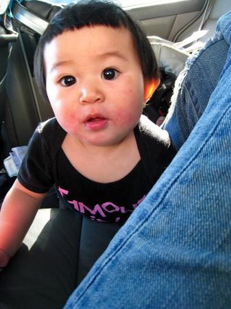 koah in the car