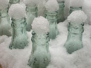 雪のキャップ