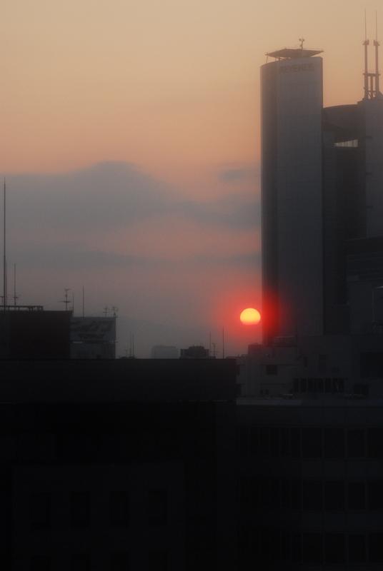 今朝の大阪の空