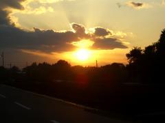 83美しい夕日