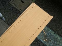 この木材を切ります