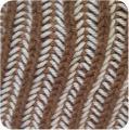 編地のアップイギリスゴム編み