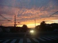外環状からの夕焼け