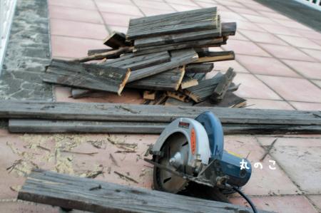 廃棄木材の切断