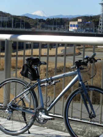 自転車と富士山