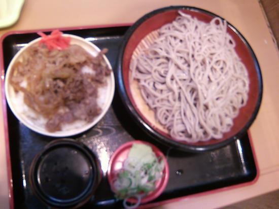 富士そば牛丼セット