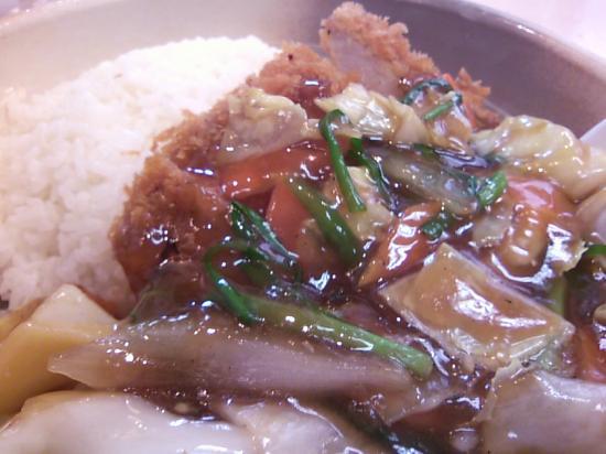 たけいしカツレツ中華丼