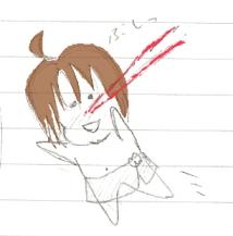 ケーサク 鼻血