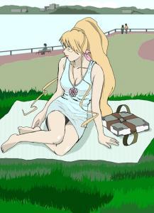 姐さん 公園でひとやすみ