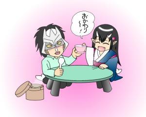 鬼っ娘と豆御飯