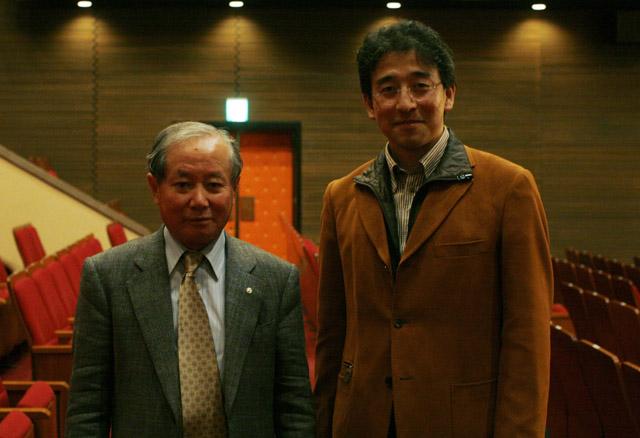 赤祖父先生と20081109クラーク会館640x