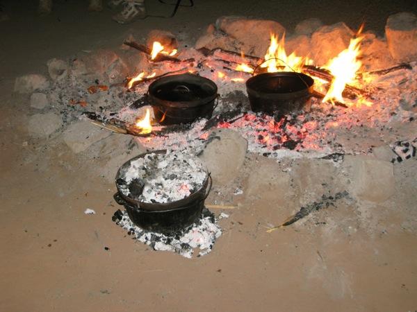 0713たき火食事