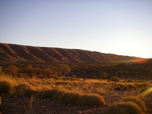 0714西マクドネル山脈夕日