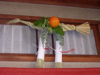 080103金閣寺前の蕎麦屋権太呂のしめ飾り