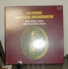 カール・ズスケ ベートーベンバイオリンとピアノのためのソナタ