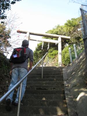 淡島神社方面へ