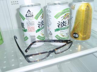 冷蔵庫メガネ