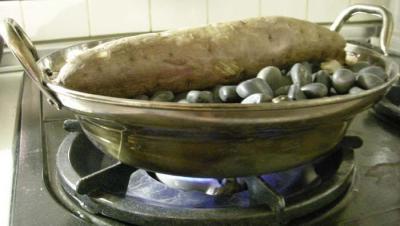 お家で石焼き芋!5  2008.1.11