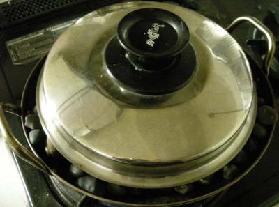 お家で石焼き芋!4  2008.1.11