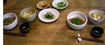 海鮮丼!豆腐とネギのお味噌汁!定食。2008.1.26
