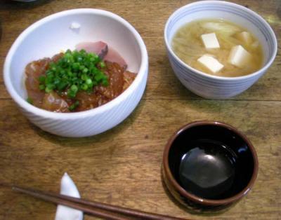 海鮮丼!豆腐とネギのお味噌汁!2008.1.26