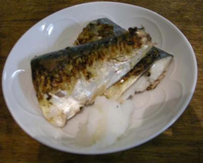 サバの塩焼き。2008.1.30