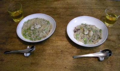 リゾット!リゾット!リゾット! 牡蠣と茶豆とシイタケのリゾット!2008.2.1