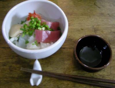大好きな海鮮丼!彩りもキレイ!2008.2.13