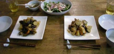 黒酢で酢豚!&カンパチのサラダ!2008.2.15