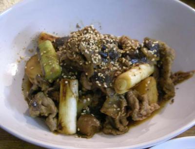新ジャガと牛肉の味噌煮。2008.2.16