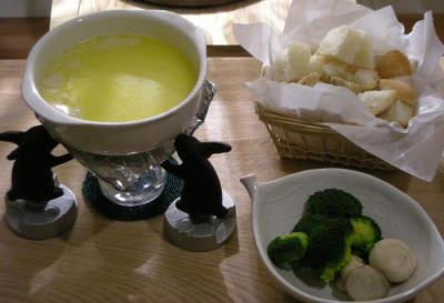 HAPPY BIRTHDAY スペシャルディナー チーズフォンデュ!2008.2.22