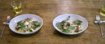白菜のパスタ!美味しい!2008.2.28