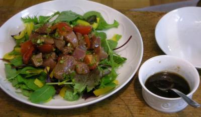 マグロのカルパッチョサラダ 2008.3.1