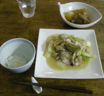 優しいお家ごはん!白菜と豆腐の炒めモノとぶり大根!2008.3.9