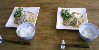 生姜焼き!と菜の花と厚揚げの胡麻和え!2008.3.24