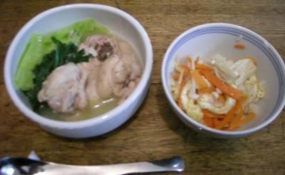 サムゲタン風スープと炊込みご飯!2008.4.9