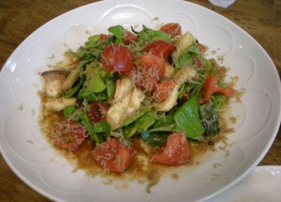 じゃことトマトのエリンギとルッコラのサラダ 2008.4.13
