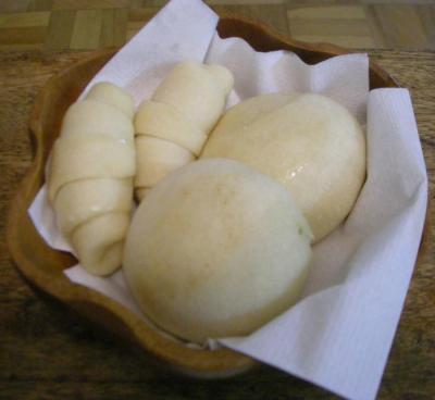 焼きたて白パン 2008.4.13