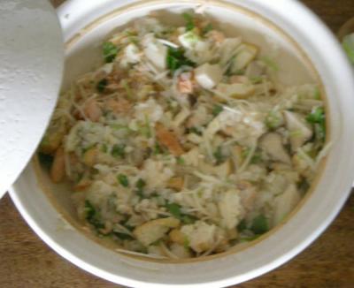 和食が好き!鮭ときのこと厚揚げの土鍋ご飯 2008.4.20