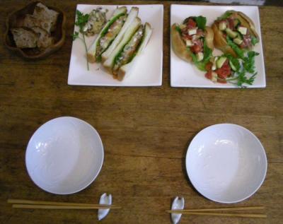 ペリカンのパンでサンドイッチ!2008.4.29